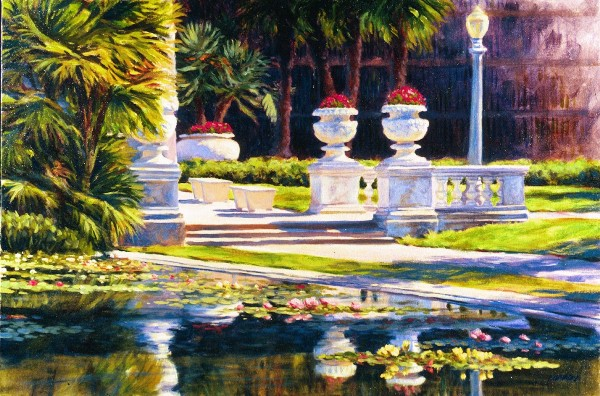 Lily Pond at Balboa Park - Oil